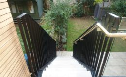 Stone cladded steel stairs north London